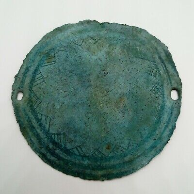 Art Bronze Mirror Buckle Ornament Pyramid Siberia Scythians Kulay 600-100BC