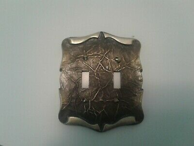 Amerock carriage house double switch cover antique brass