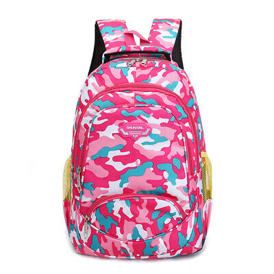 Toddler Backpack Bags Camouflage Student Outdoor Zipper Girls Boys Kids