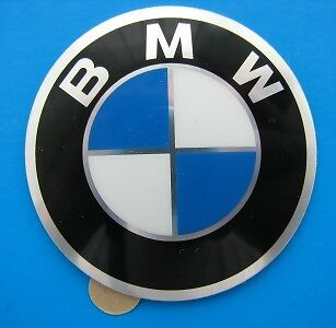 BMW Wheel Centre Hub Cap Badge 70mm Self Adhesive Aluminium GENUINE