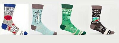 Blue Q Men's - Crew,  Funny / Novelty Socks - NEW, With Tags - Ships FREE USA