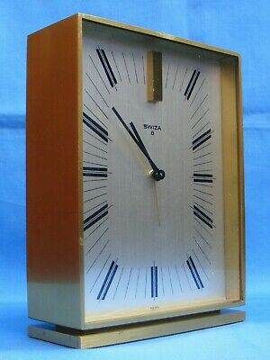 Vintage Swiza 8, 8 Day Desk, Mantle Alarm Clock, Gwo.