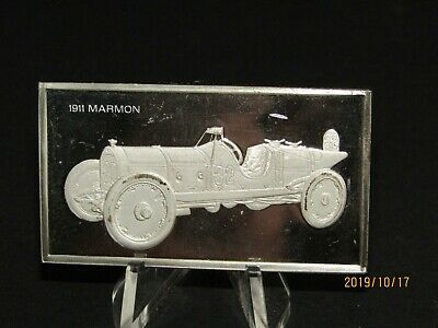 Franklin Mint  Silver Bar Sterling 1911 Marmon Wasp 65 grams