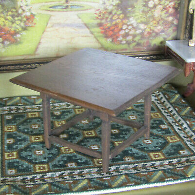 Vtg Dollhouse DINING TABLE Artist Artisan Antique Arts & Crafts Mission Style