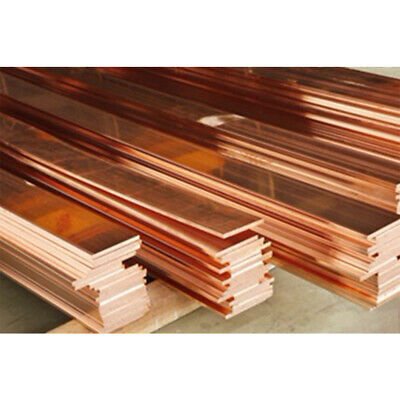 1pcs 1.5mm x 10mm x 100mm 99.9% Copper T2 Cu Metal Flat Bar Copper Strip Plate