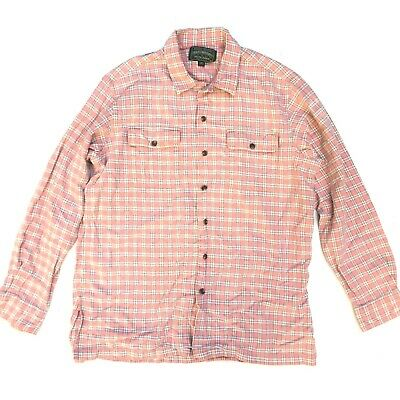 Mens Medium/Large RALPH LAUREN POLO COUNTRY Flannel Shirt Pink Button Plaid