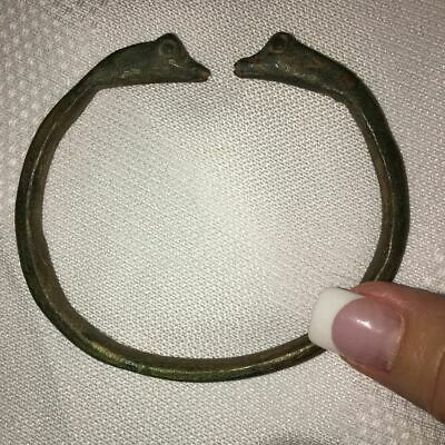 Interesting  ROMAN Style BRONZE BRACELET ARMLET SNAKES or SERPENTS