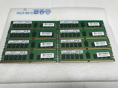 Samsung 128GB Kit 8x 16gb PC4-2400T DDR4 ECC Server Memory HP P/N: 809082-591