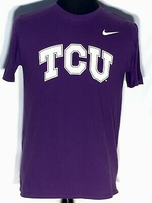 Nike Bloodlines TCU Horned Frogs Helmet White Shirt Mens Size XL NWT