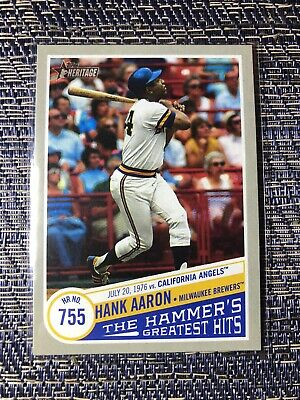 Hank Aaron Hammer's Greatest Hits HR 755 THGH-11 2019 Topps Heritage High Number