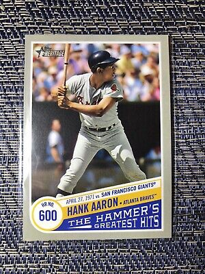Hank Aaron 2019 Topps Heritage High Number The Hammer's Greatest Hits 600 #THGH9