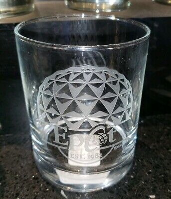 New Disney Parks Arribas SPACESHIP EARTH EPCOT Etched Highball Juice Glass