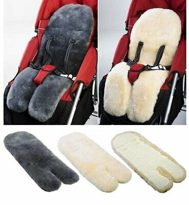 MEDICAL GRADE Australian Sheepskin Baby Pram Stroller Car Seat Liner CHARCOAL