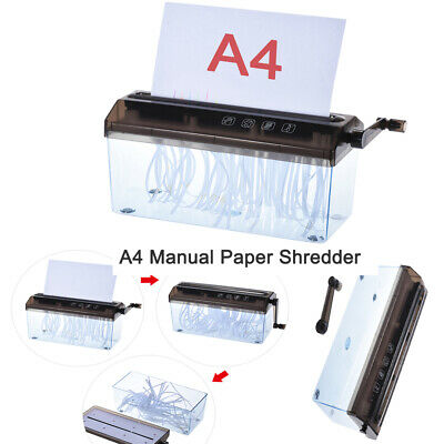 """9"""" Paper Shredder Commercial Home Office Document Strip Cuting Tool Destory W1G3"""
