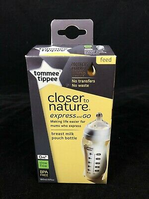 Tommee Tippee Closer To Nature Express And Go Breast Milk Pouch Bottle (S2)