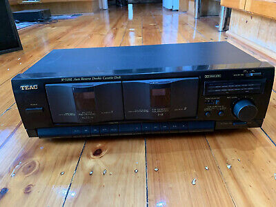 TEAC Double Cassette Deck W-518R Tested And Working