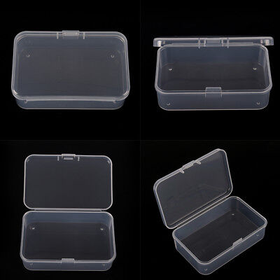 1Pcs Clear Plastic Transparent With Lid Storage Box Collection Container CasY HK