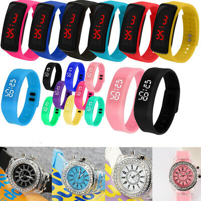 Kids Boy Girls LED Digital Sport Watch Wrist Watches Flash Backlit Quartz Unisex