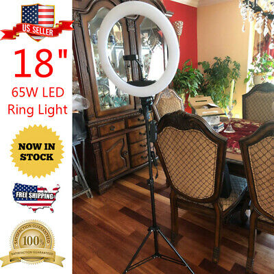 """18"""" Dimmable LED Ring Light Kit Makeup Phone Camera Youtube Video Live Streaming"""