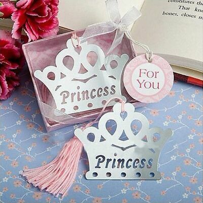 Imperial Crown Bookmarks Metal Tassels Stationery Books Kids Gifts Wedding Favor
