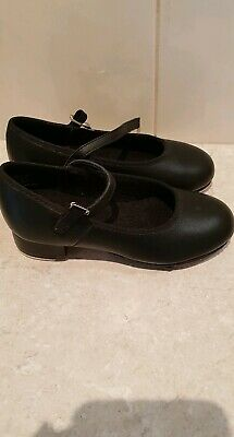 Girls Tap Dance Shoes. Size 10. Black Leather. Excellent used condition
