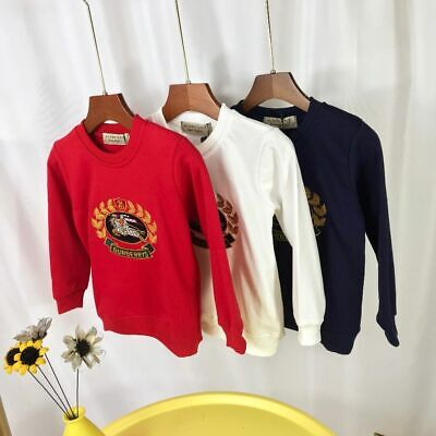 2020 Fashion Kids Boy Girls Embroidery Horse Winter Hoodie Outwear Sweatershirt