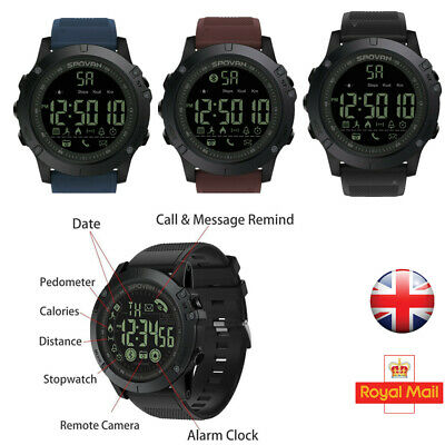 Mens Smart Watch Sports Military Grade Super Tough Tact Waterproof Outdoor UK