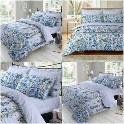 Luxury Celine Quilted Bedspread/Duvet/ Fitted Sheet 200 Thread Count Bedding Set