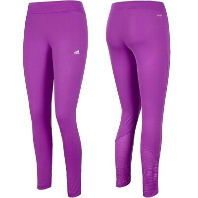 Adidas Damen Sport Leggings Long Tight Yoga Fitness Hose Trainingshose pink/lila