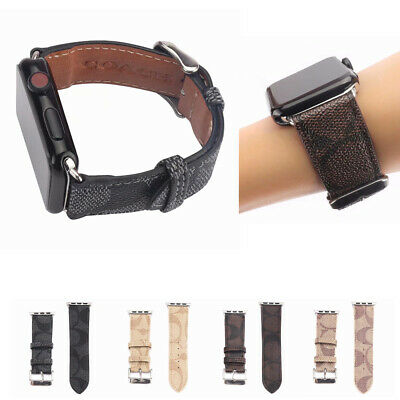 New For Watch iWatch Series 5/4/3/2/1 Leather Sport Band Strap 38/40mm 42/44mm