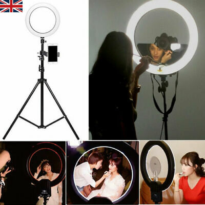 "14"" Dimmable LED Ring Light 5500K Photography Photo Studio Phone Youtube + Stand"