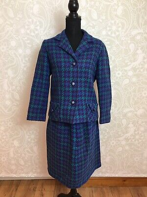 "Vintage Tweed Style 60s Wool Suit, Jacket & Skirt. Jackie O"" Wetherall Bond St,"