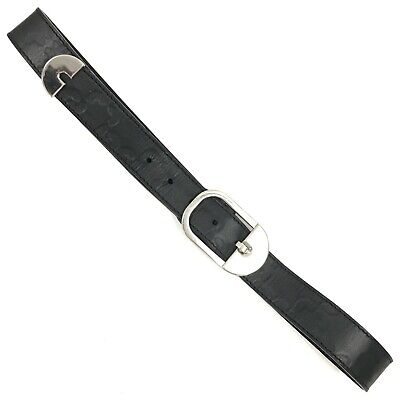 """COCCINELLE Black Chunky Buckle Casual Statement Belt Ladies 32""""-36"""" TH322110"""