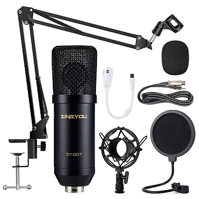 ZINGYOU Condenser Microphone Bundle, ZY-007 Professional Cardioid Studio and Arm