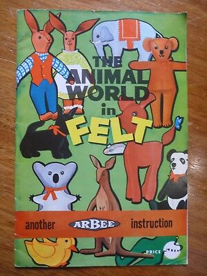 Vintage & Retro-Arbee Instructions Pattern Book-The Animal World In Felt