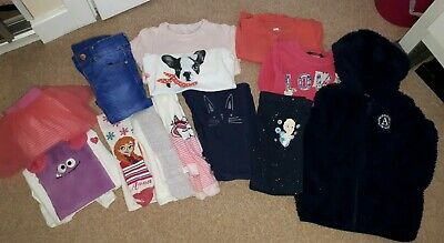 Bundle Of Girls Winter Clothes 2-3 Jumpers Jeans Tights Pjs