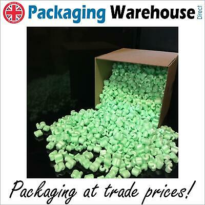 Green, Loose Void Fill Polystyrene packing peanut Super 8 chips