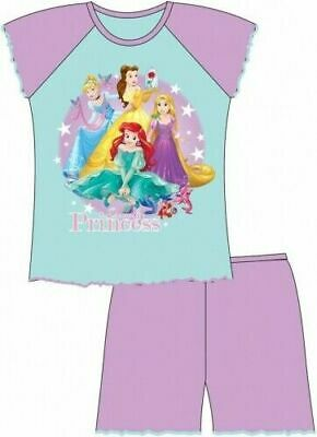 Disney Princess Pyjamas Childrens Kids Girls Blue PJs Age 12 Months- 4 Years
