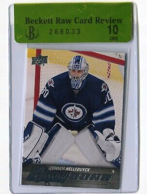 2015-16 Upper Deck 1 Young Guns RC #214 Connor Hellebuyck  BGS 10 Pristine RAW
