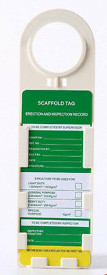 3pcs X Scaffold ClawTags Holder With Inserts Safety Management Caution Label