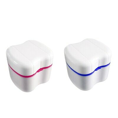 2Pcs Denture Box with Specially Designed Holder for Rinse Basket,Great for V9H4