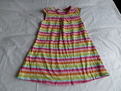 George Girls Multi Colour Striped 100% Cotton Summer Dress Size 4-5 Years