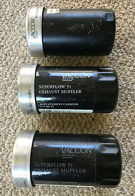 Lot Three Vaccon FA-51-1/2 Silencer 1/2 Inch NPTM  Appears To Be Unused
