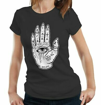 Evil Palmistry Tshirt Fitted Ladies - Gothic, Witch Craft, Alternative