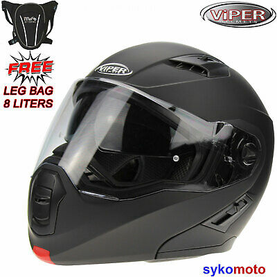 RSV555 Flip Up Full Face Motorbike Motorcycle Helmet With Free Pinlock & Cover