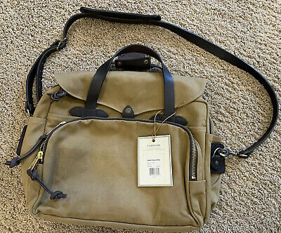 Filson Padded Briefcase Computer Case Bag Tan New With Tags 70258 258 TN