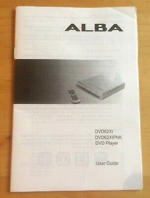 ALBA DVD62XI DVD PLAYER USER & Quick Start GUIDE Instruction Manual FREEPOST
