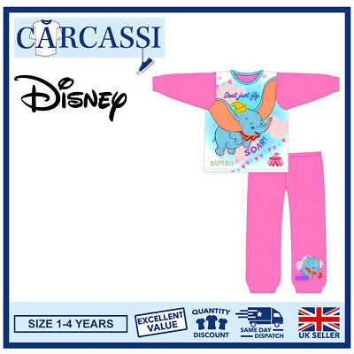 Disney Dumbo Pyjamas Childrens Kids Toddler Girls PJs Age 12 Months- 4 Years