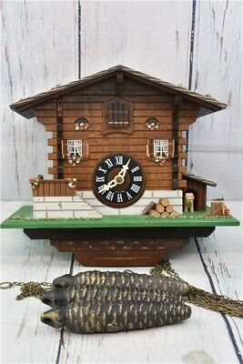 Lotscher Cuckoo Clock Musical Vintage Wall Mounting Pendulum Cottage