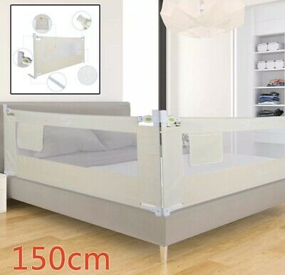 150cm Kids Toddler Bed Guard Safety Folding Lifting Baby Bed Protection Rail NEW